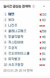 130125 Taemboa has been on oben, nach oben for 2 hours (naver)