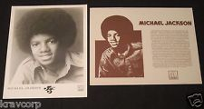 A Vintage Michael Jackson foto And Press Release