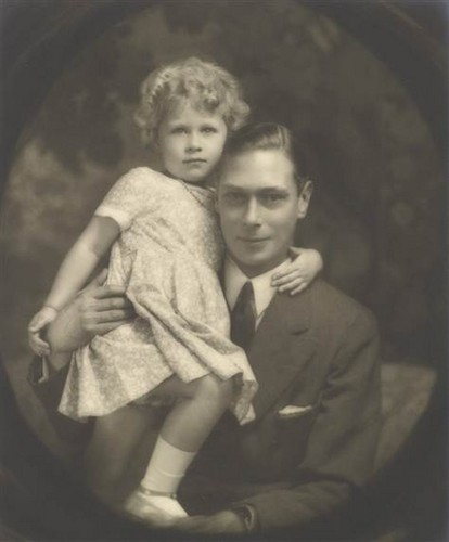 Albert, Duke of York, and his daughter, Princess Elizabeth, in July 1929