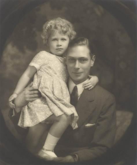 Albert, Duke of York, and his daughter, Princess Elizabeth, in July 1929