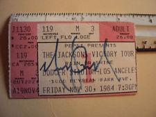 An Autographed Michael Jackson concierto Ticket Stub