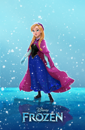 ডিজনি Extended Princess দেওয়ালপত্র called Anna (Frozen)