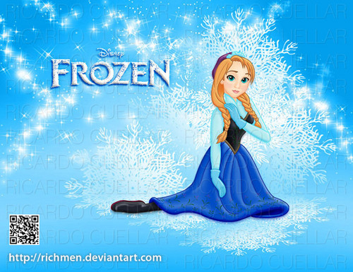 Disney Princess wallpaper probably containing a sign titled Anna (Frozen)