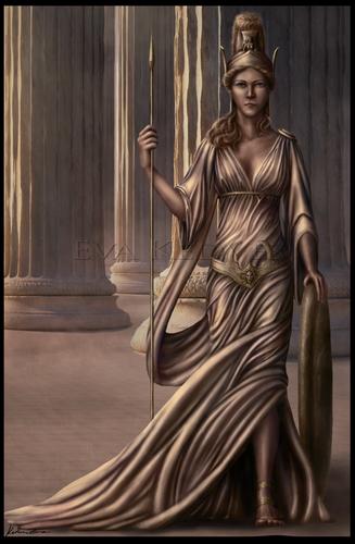 Greek Mythology wallpaper entitled Ares and Athena