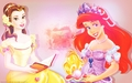 disney-princess - Ariel and Belle ~ ♥ wallpaper
