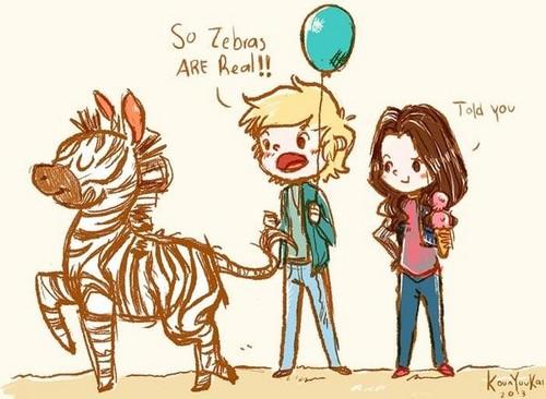 Austin, Ally and Zebras