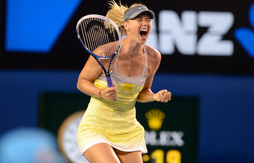 Maria Sharapova wallpaper containing a tennis racket, a tennis player, and a tennis pro entitled Australian Open 2013