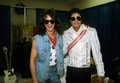 "Backstage With Van Halen Guitarist, Eddie Van Halen During The ""Victory"" Tour Back In 1984 - michael-jackson photo"