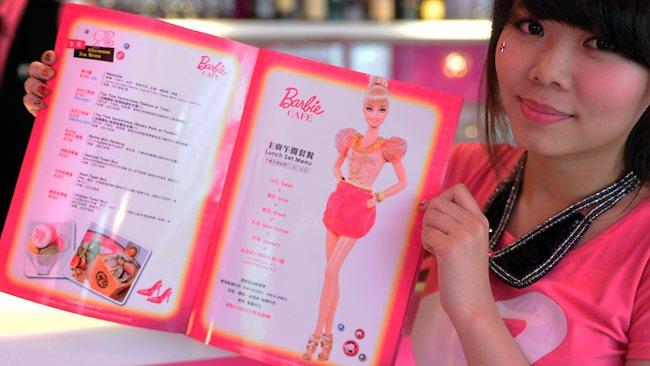 Barbie Cafe on Taipei, Taiwan