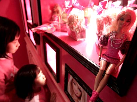 Barbie Cafe on Taipei, Taiwan