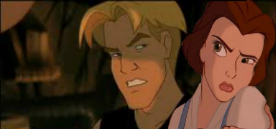 Belle and Cale fighting