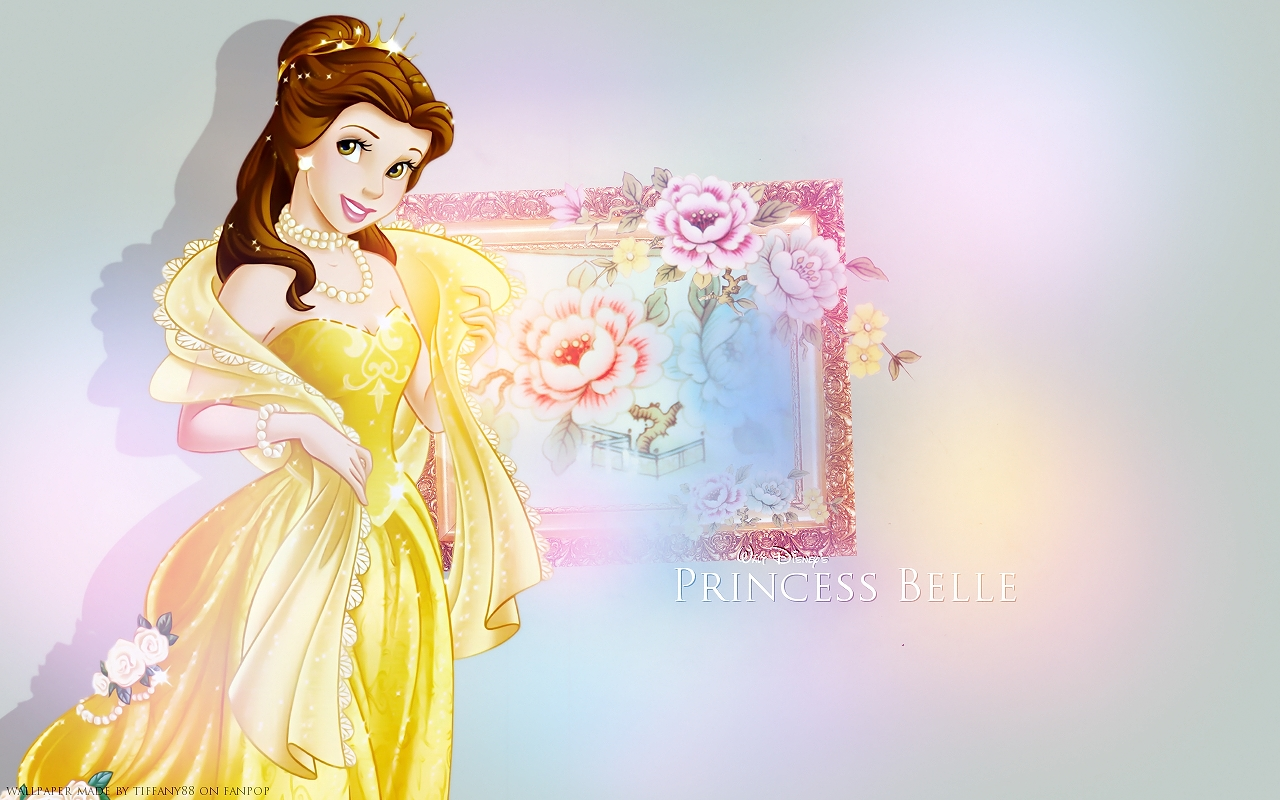Belle ♥ Disney Princess Kertas Dinding Fanpop