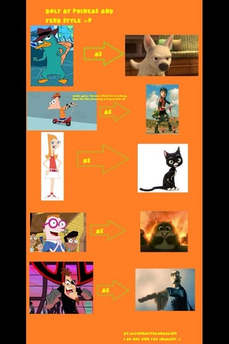 Bolt as Phineas and Ferb style...