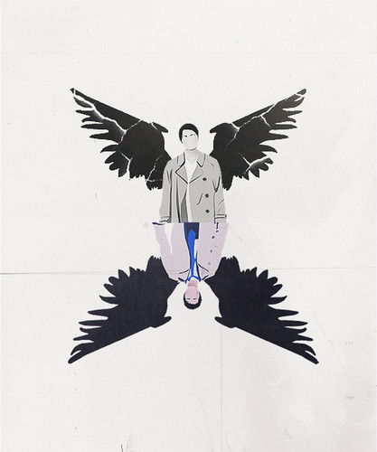 supernatural fondo de pantalla entitled Castiel