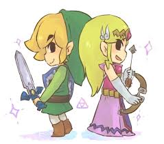 Chibi Link and Zelda
