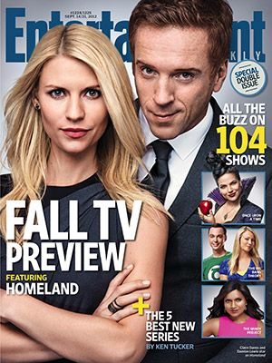 Damian Lewis & Claire Danes EW Cover