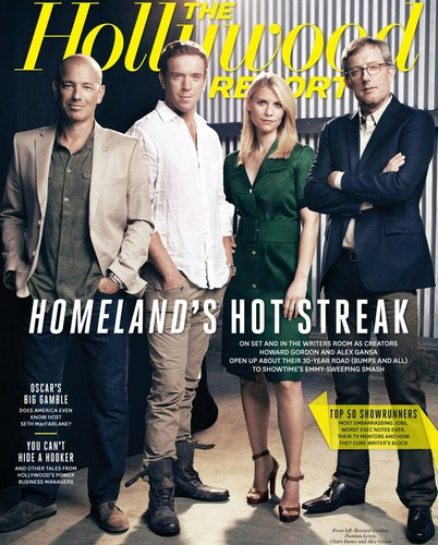 Damian Lewis, Claire Danes, Howard Gordon & Alex Gansa for The Hollywood Reporter October 12th 2012