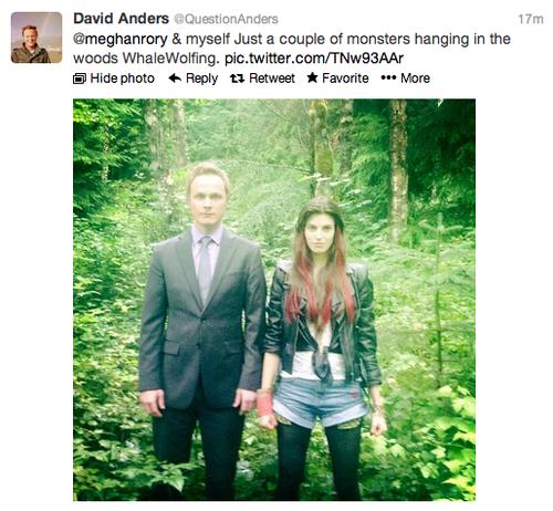 David Anders & Meghan Ory