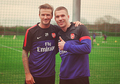 David Beckham and Lukas Podolski - david-beckham photo