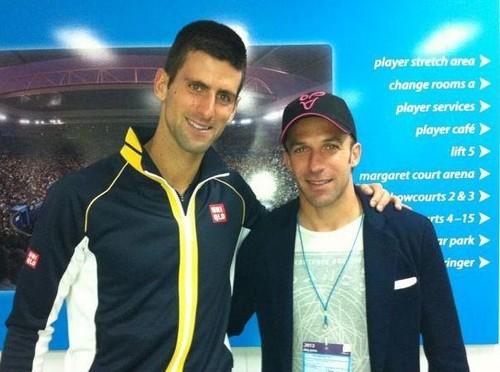 Del Piero and Novak Đoković