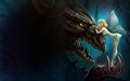 Dragon and Fairy - dragons wallpaper