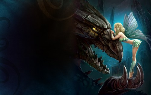 Dragons images Dragon and Fairy HD wallpaper and background photos