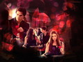 Elena &amp; Damon - the-vampire-diaries wallpaper