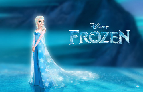 Elsa The Snow Queen (Frozen) - disney-princess Fan Art