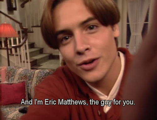 boy meets world eric singled out I try and do the right thing life is a funny thing, it never goes how you want he makes me laugh so hard i can't stop cracking up over this even as i type this i'm doing that really funny silent laugh when you can't breath just read it again and now i'm in tears.