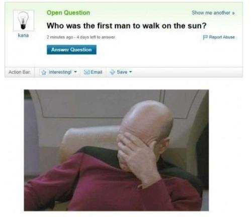 First Man On The Sun