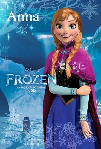 Frozen Hintergrund titled Anna Poster