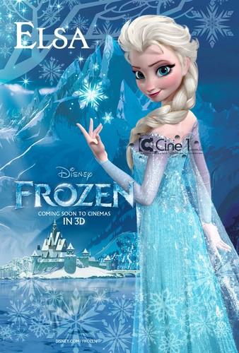 La Reine des Neiges fond d'écran entitled Elsa Poster