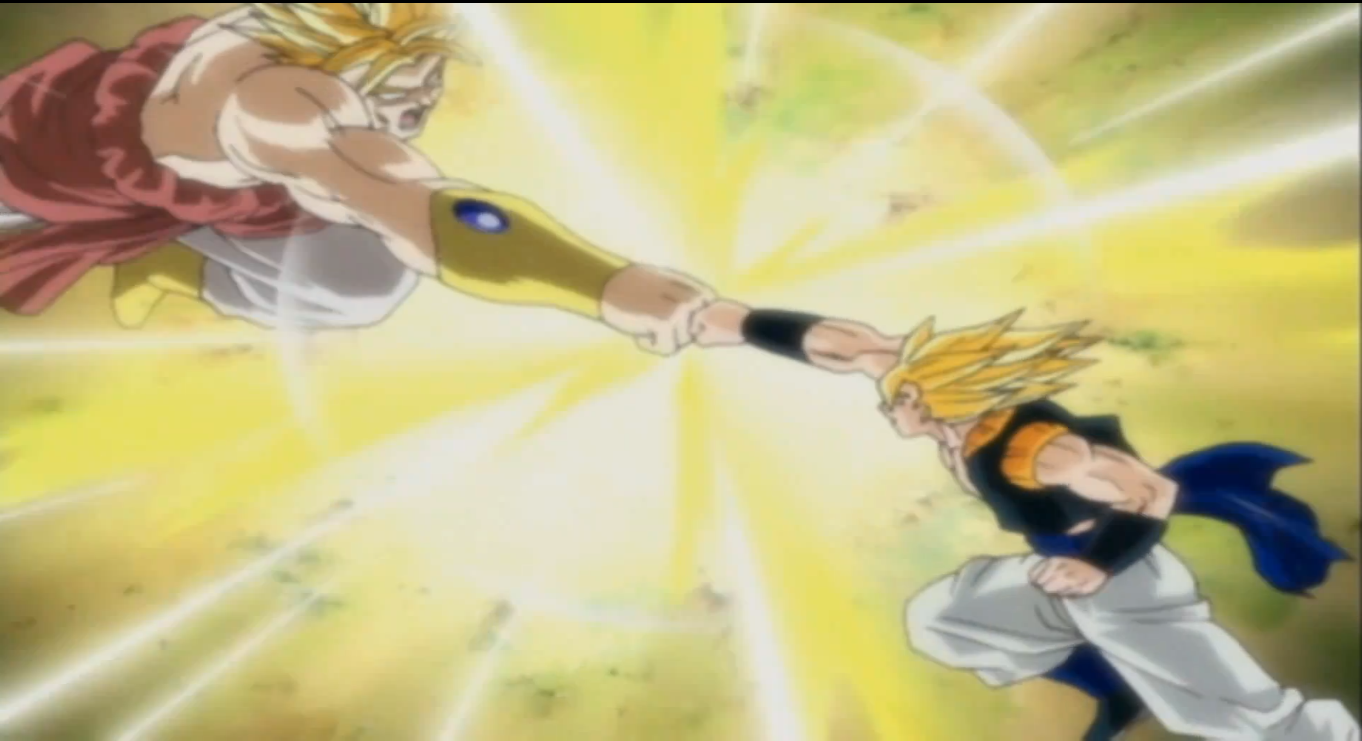 Gogeta vs Broly (screen shot) from dragon ball budokai 3 ...