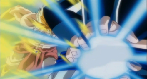 Gogeta vs Broly (screen shot) from dragon ball budokai 3