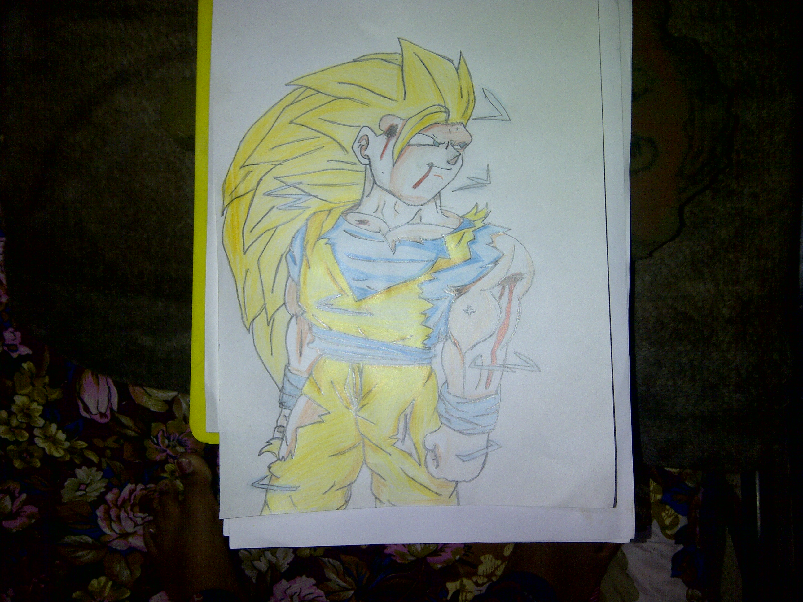 Goku Super Saiyan 3 Cartoon Drawing Fan Art 33439678