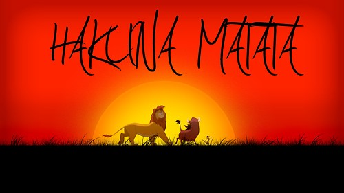 The Lion King wallpaper probably with a sign titled Hakuna Matata