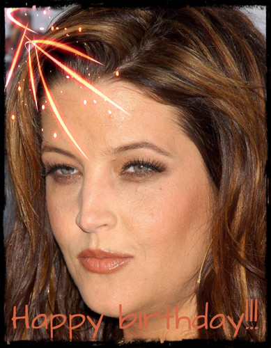 Lisa Marie Presley fond d'écran with a portrait called Happy birthday Lisa!