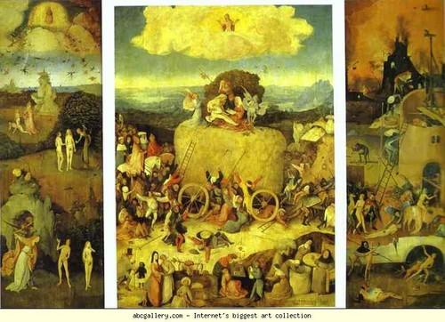 Haywain Triptych. 1485-1490. Oil on panel. Museo del Prado, Madrid, Spain