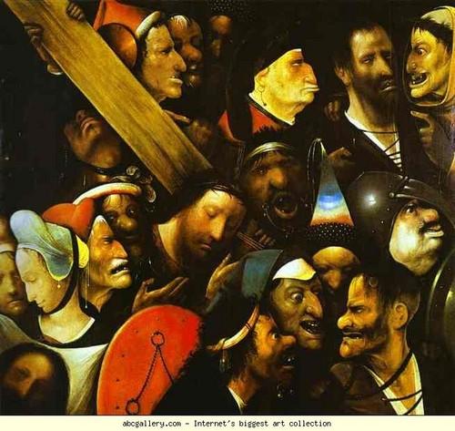 Hieronymus Bosch. Christ Carrying the Cross. 1490. Musée des Beaux-Arts, Ghent, Belgium