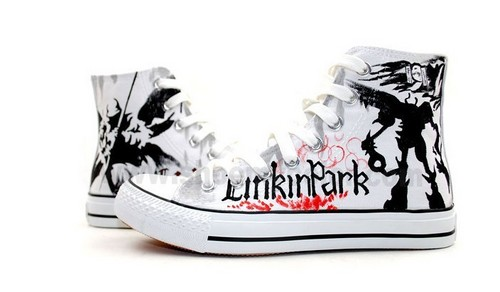 Hot Linkin Park canvas sneakers for Valentine's Day!