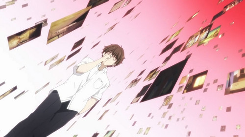 Hyouka 壁紙 possibly containing a sign titled Houtarou Oreki