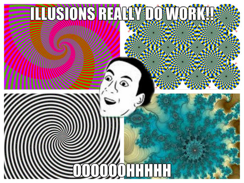 Puzzles and Brain Teasers 바탕화면 possibly with 아니메 titled Illusions 당신 dont say meme