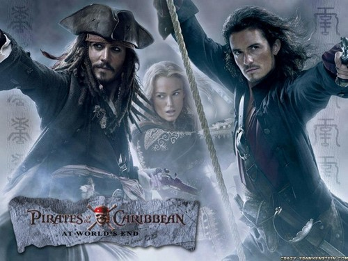 Pirates of the Caribbean wallpaper titled Jack, Will & Elizabeth