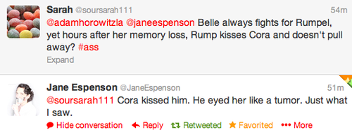 Jane Espenson about Cora kissing Rumpel