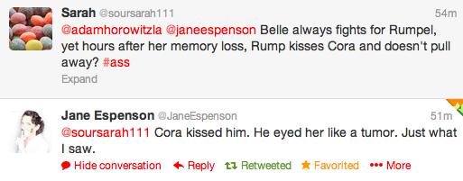 Jane Espenson about Cora kissing Rumpel