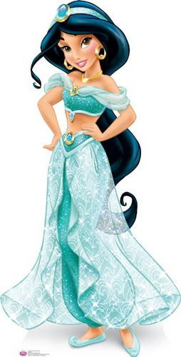 Disney Princess پیپر وال possibly containing a رات کے کھانے, شام کا کھانا dress, a gown, and a bridesmaid titled Walt Disney تصاویر - Princess جیسمین, یاسمین
