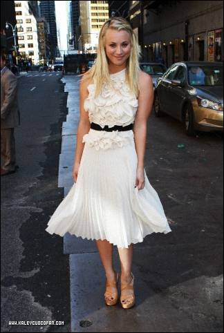 "Kaley visiting ""The Late Show with David Letterman"""
