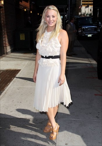 "Kaley visiting ""The Late mostrar with David Letterman"""