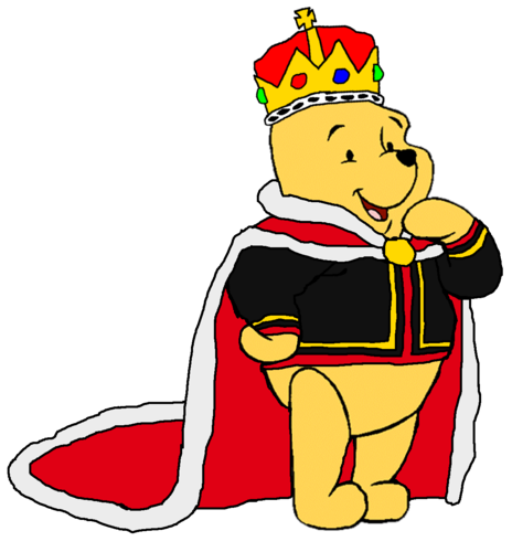 winnie the pooh wallpaper containing anime entitled King Pooh