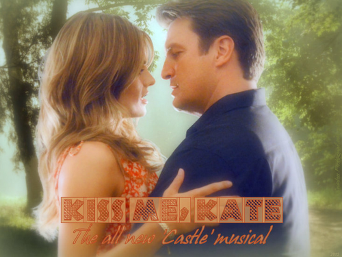 Castle wallpaper with a portrait called Kiss Me, Kate